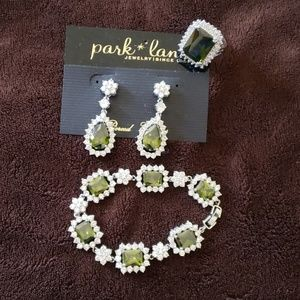 Park Lane retired peridot set